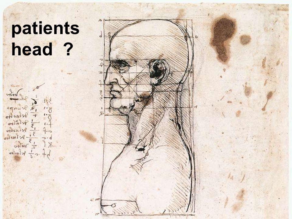 patients head ?