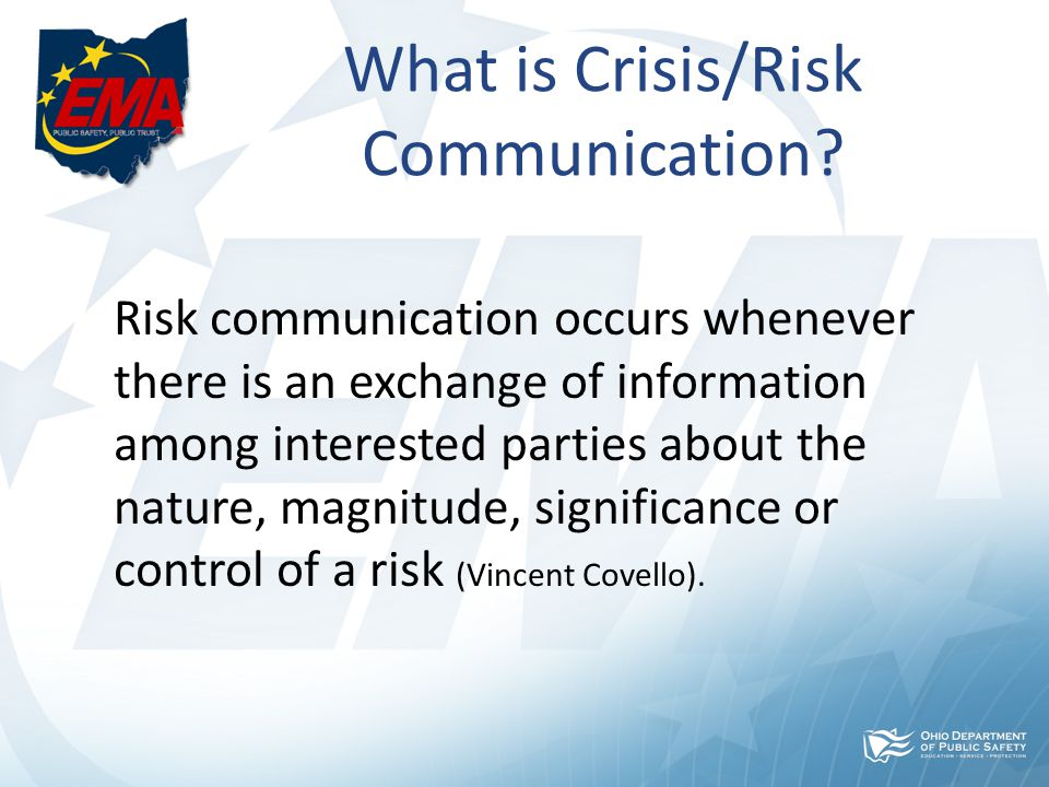 Five Truths of Crisis Communication 1.Organizations (people) in Crisis Need to Communicate Immediately 2.Organizations That Do Not Communicate Quickly Make It Worse 3.The Crisis Response Itself Changes The Crisis 4.The Media Will Focus on the Victims 5.Burying Bad News Rarely Works