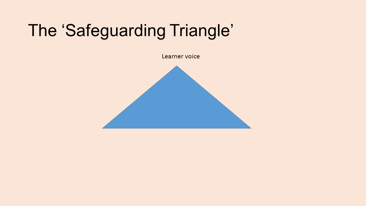 The 'Safeguarding Triangle' Learner voice