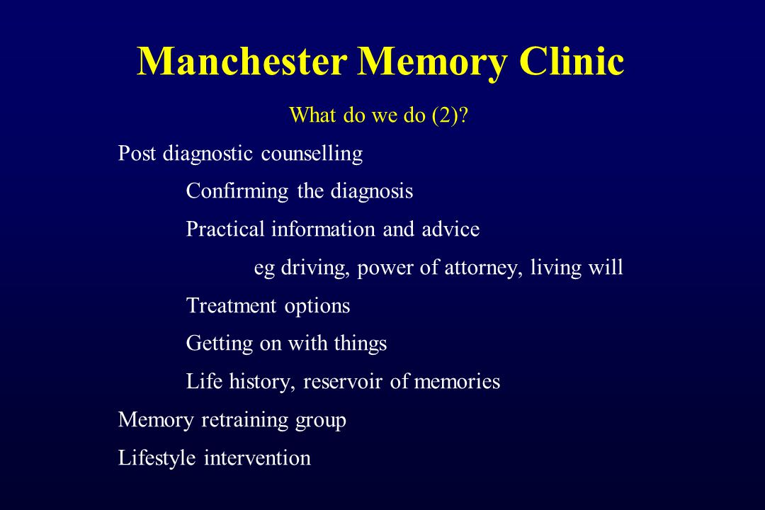 Manchester Memory Clinic What do we do (2).