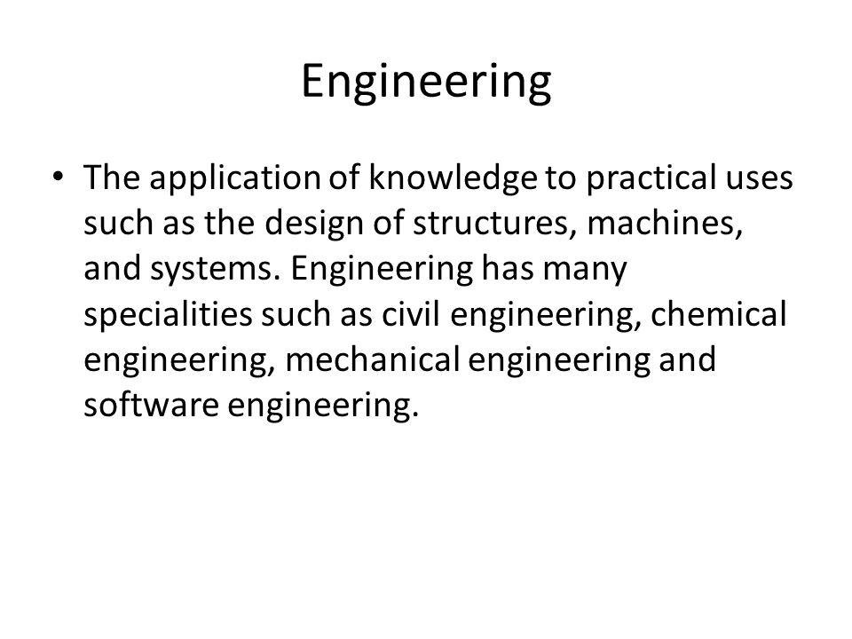 Software Systems Engineering The systematic application of scientific and technological knowledge, through the medium of sound engineering principles, to the production of computer programs, and to the requirements definition, functional specification, design description, program implementation, and test methods that lead up to this code .