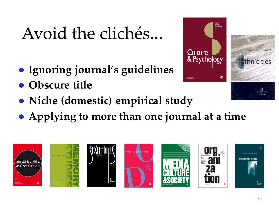 Avoid the clichés...