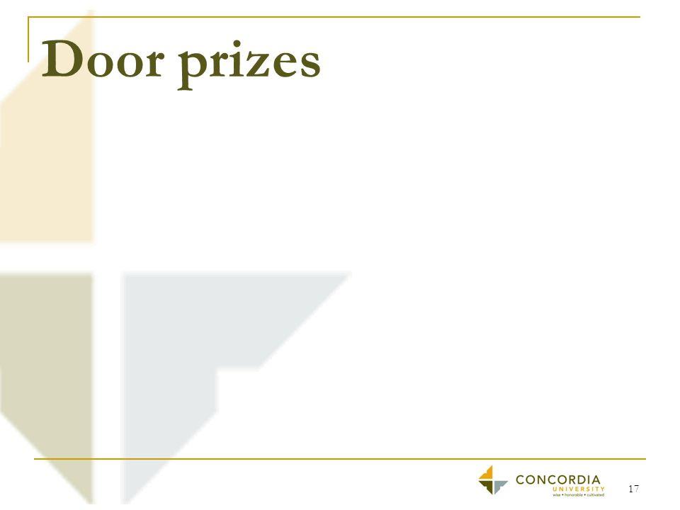 Door prizes 17