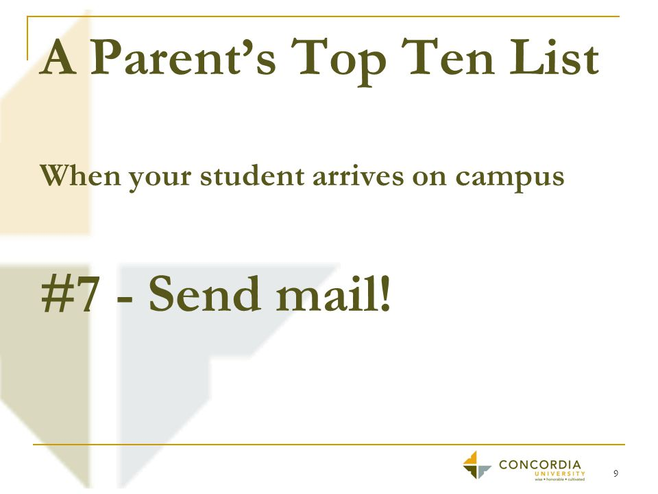 A Parent's Top Ten List #6 - Encourage them to find the solution. 10