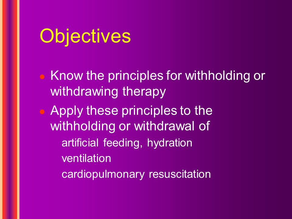 Withdrawal protocol– part 2 Establish adequate symptom control prior to extubation Have medications in hand midazolam, lorazepam, or diazepam Set FiO 2 to 21% Adjust medications Remove the ET tube