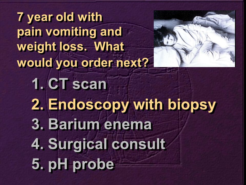 What is the most likely diagnosis.1. Reflux esophagitis 2.