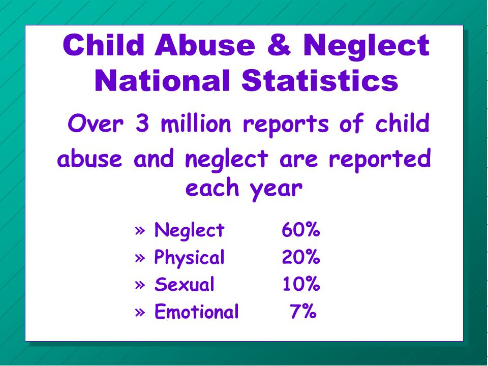 Children with Special Needs n Exact number of disabilities caused by abuse is unknown.