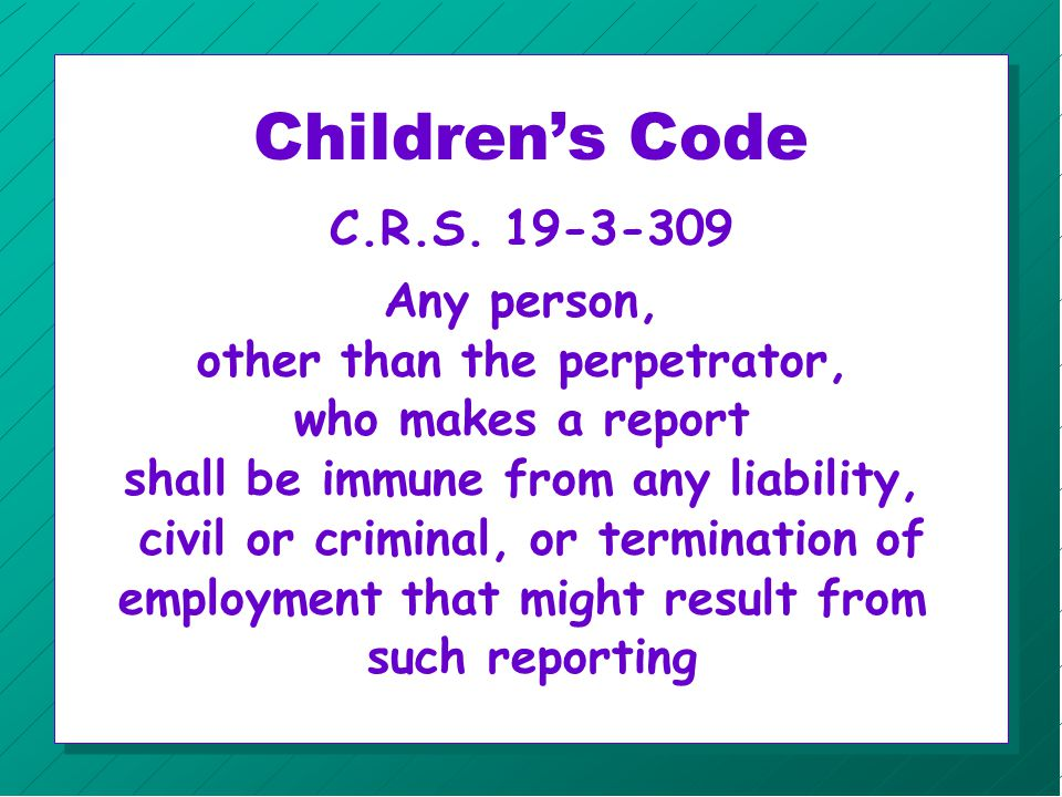 Child Protection n Reporting n Investigation n Child Protection Team n Court Process n Central Registry