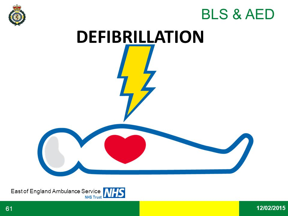 Date East of England Ambulance Service NHS Trust BLS & AED 12/02/2015 61 DEFIBRILLATION