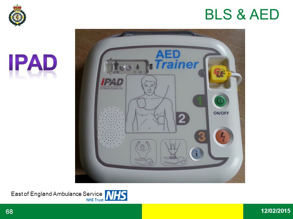 Date East of England Ambulance Service NHS Trust BLS & AED 12/02/2015 68