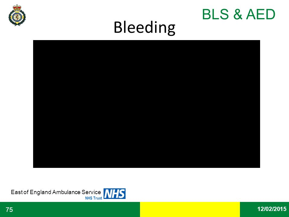 Date East of England Ambulance Service NHS Trust BLS & AED 12/02/2015 75 Bleeding