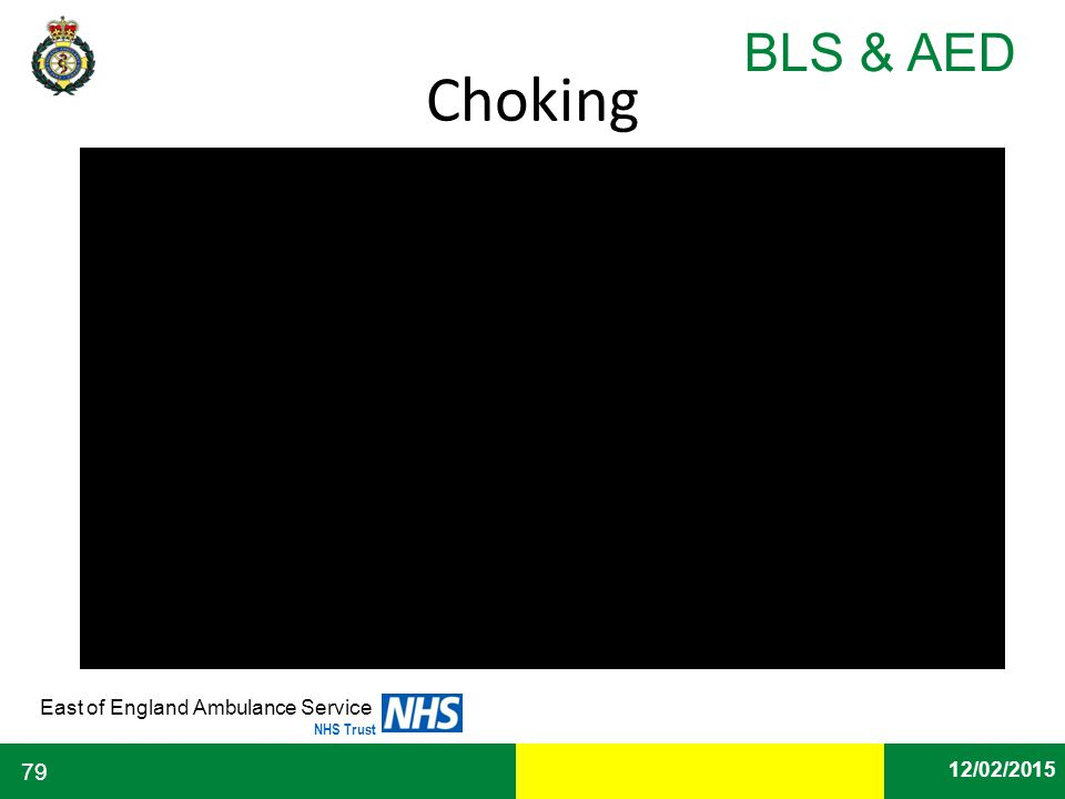 Date East of England Ambulance Service NHS Trust BLS & AED 12/02/2015 79 Choking