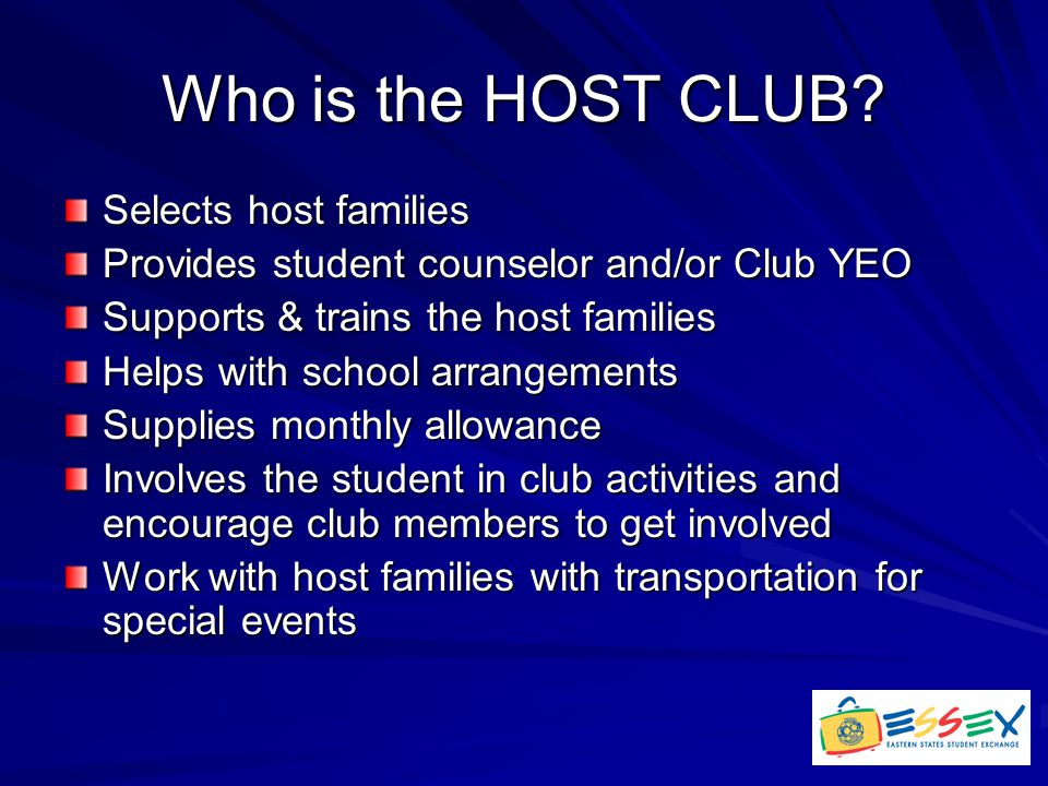 Who is the HOST CLUB.