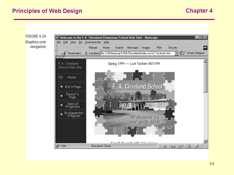 34 Principles of Web Design Chapter 4