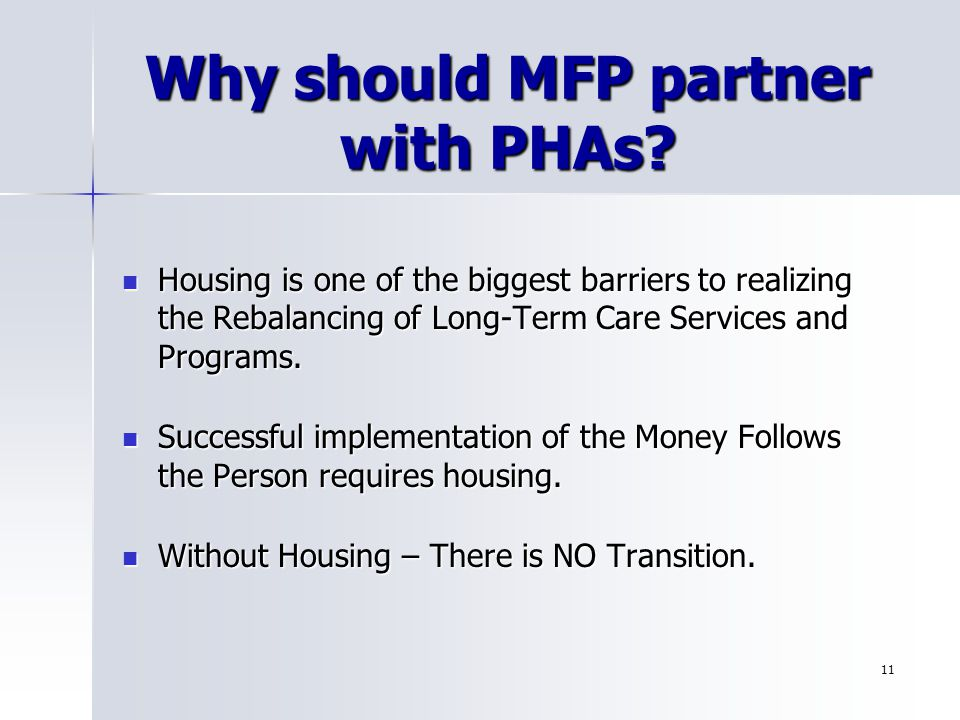 Why should MFP partner with PHAs.