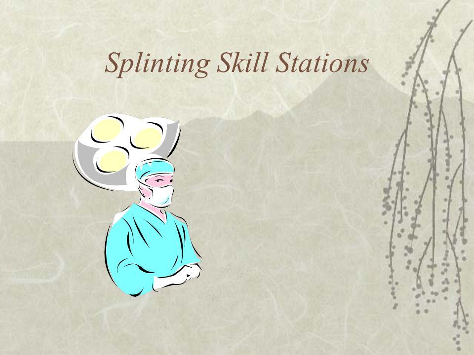 Splinting Skill Stations