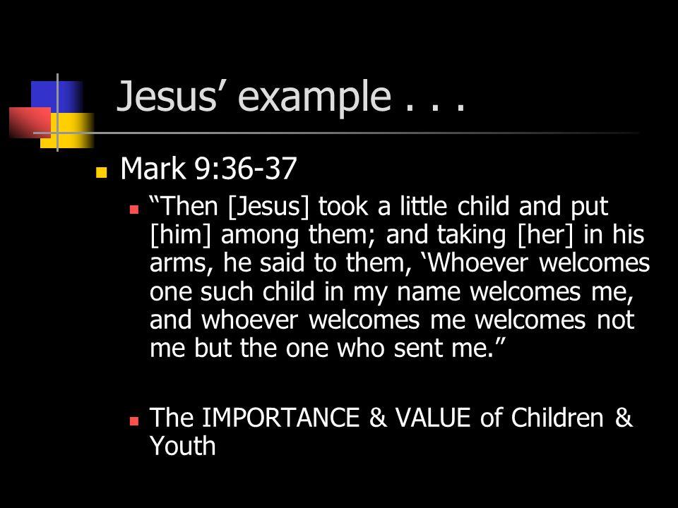 Jesus' example...
