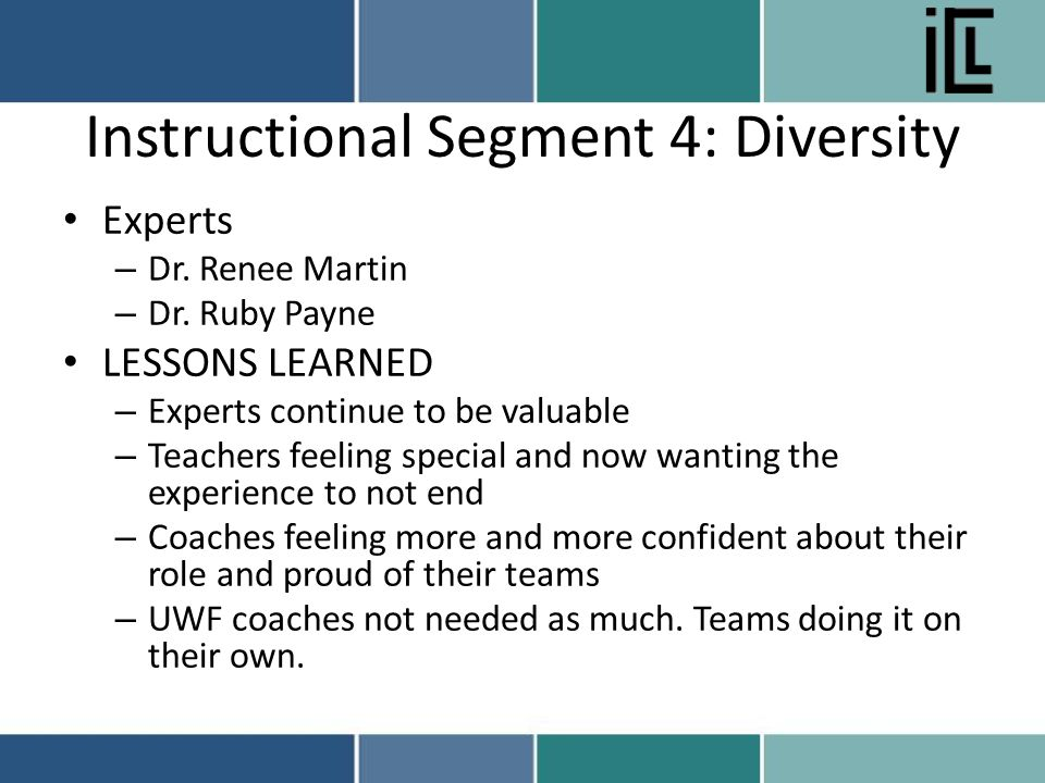 Instructional Segment 4: Diversity Experts – Dr. Renee Martin – Dr.