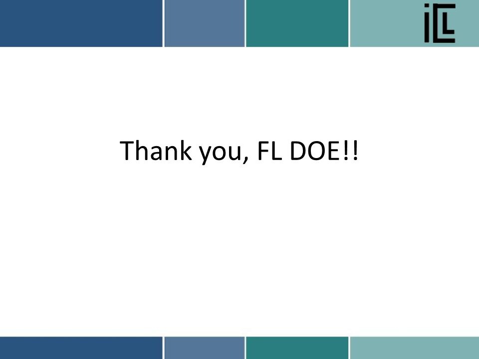 Thank you, FL DOE!!