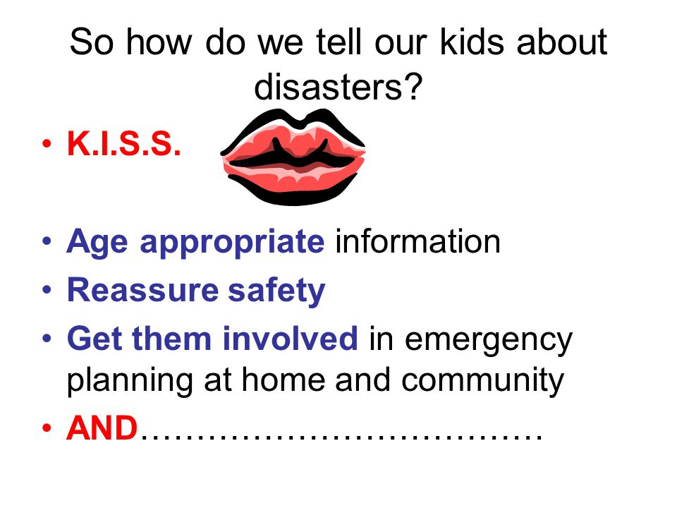 Tips to start a program in your community Start with your family Get resources from web sites Speak to your child's teacher Develop program for K-12 Submit to Mayor and superintendent Set up meeting times for individual grades/classes Get parents and teachers involved Write for local papers/programs for CATV Make bi-annual curriculum in school system Provide information on drills, events, volunteer opportunities within community Have information available at town events throughout year