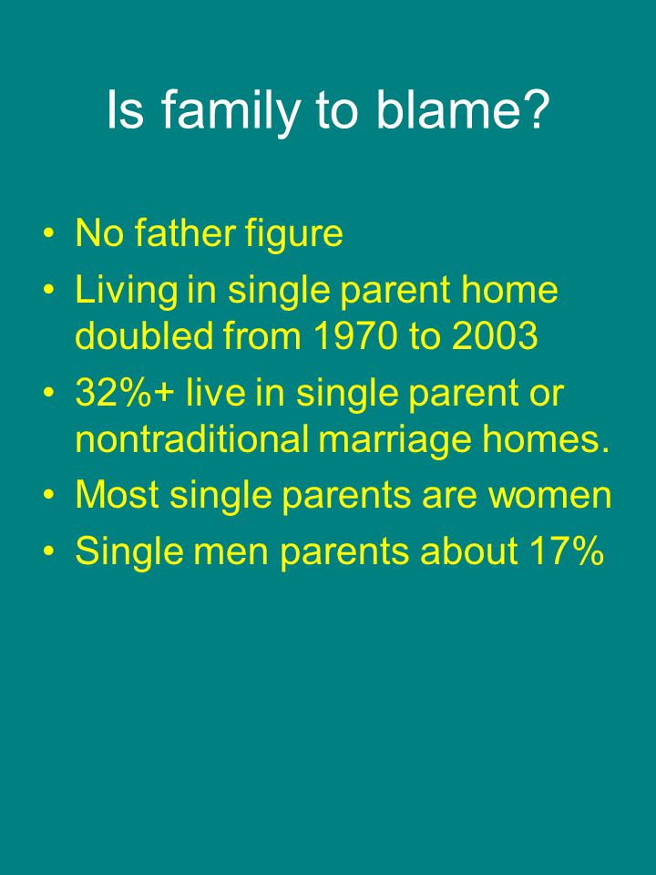 Is family to blame.