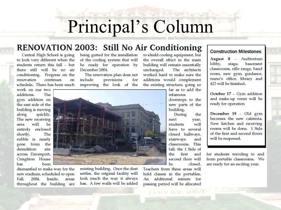 Principal's Column