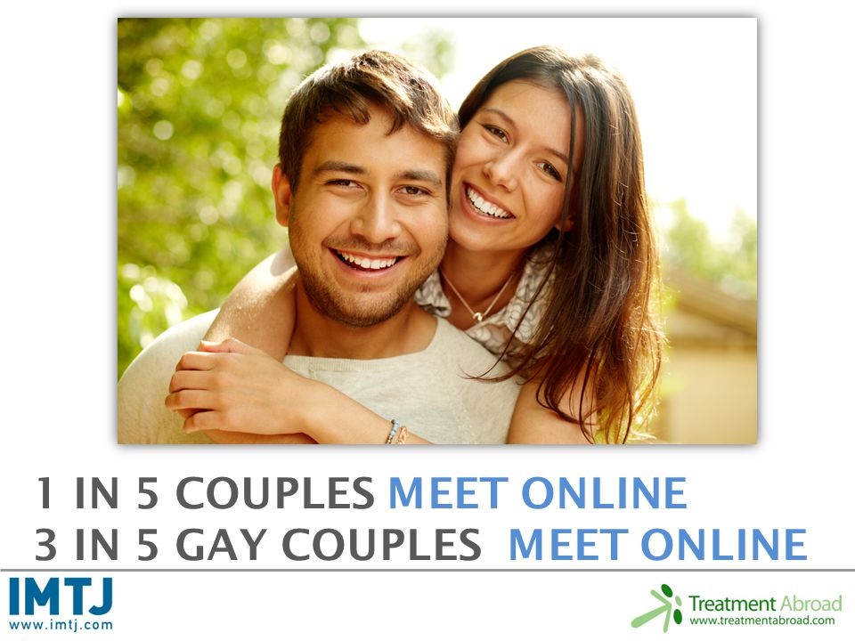 1 IN 5 COUPLES MEET ONLINE 3 IN 5 GAY COUPLES MEET ONLINE