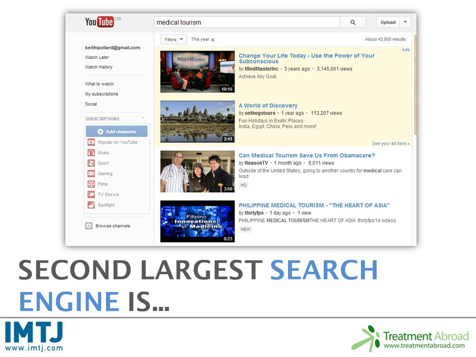 SECOND LARGEST SEARCH ENGINE IS...