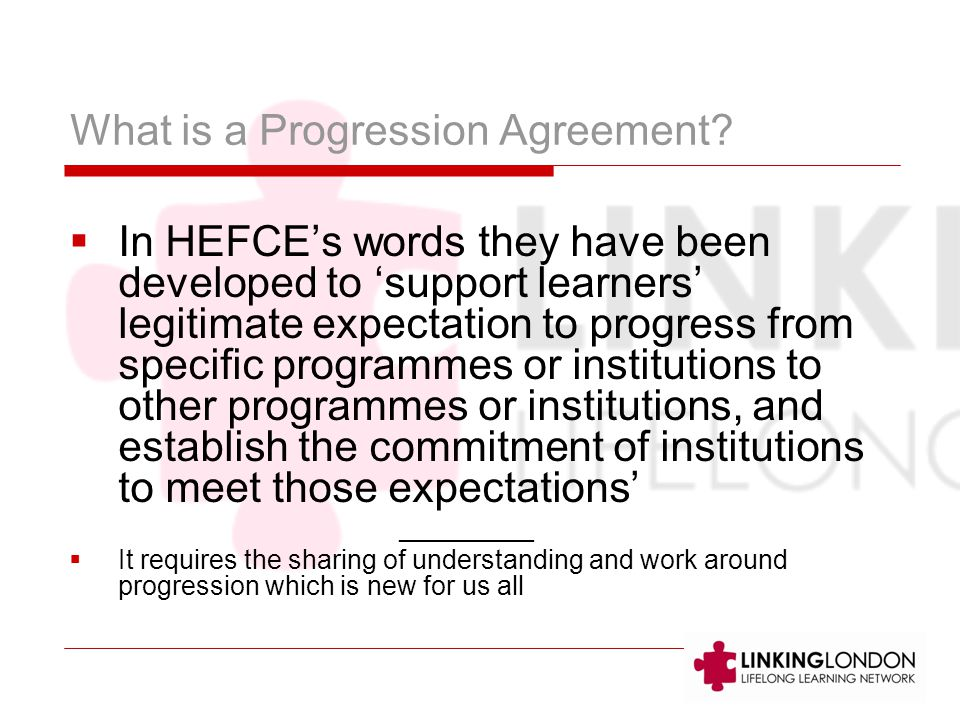 What is a Progression Agreement.