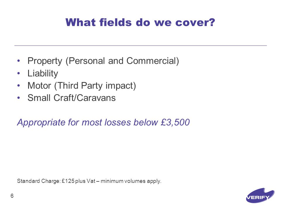 6 What fields do we cover.