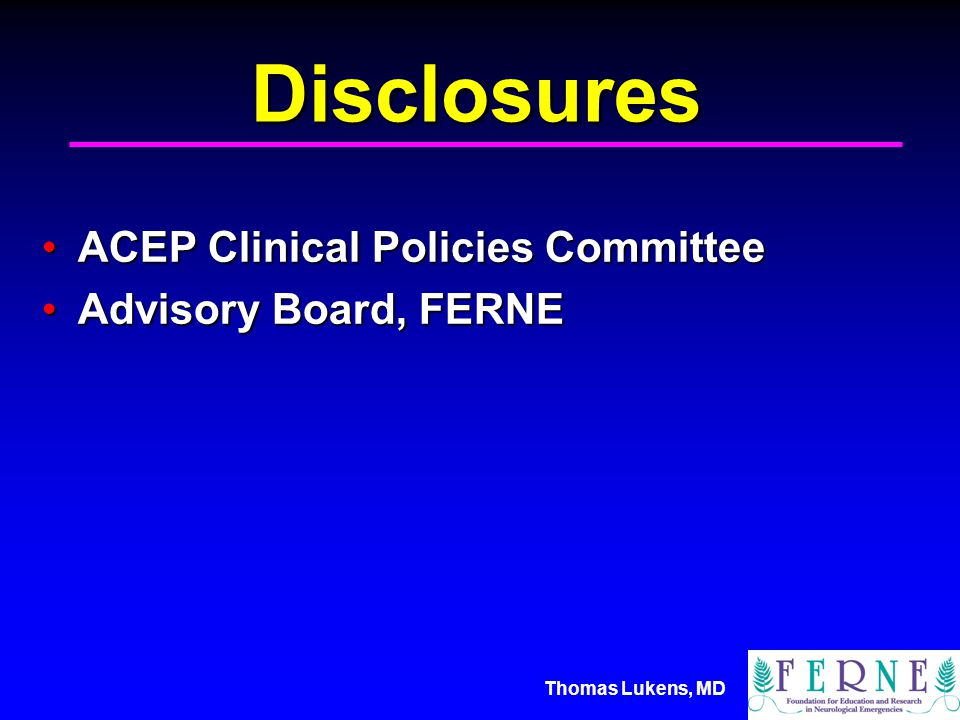 Thomas Lukens, MD Today's Objectives Present a typical clinical situationPresent a typical clinical situation Discuss the diagnosis of deliriumDiscuss the diagnosis of delirium Review methods to diagnosis CNS infectionsReview methods to diagnosis CNS infections Consider treatment optionsConsider treatment options