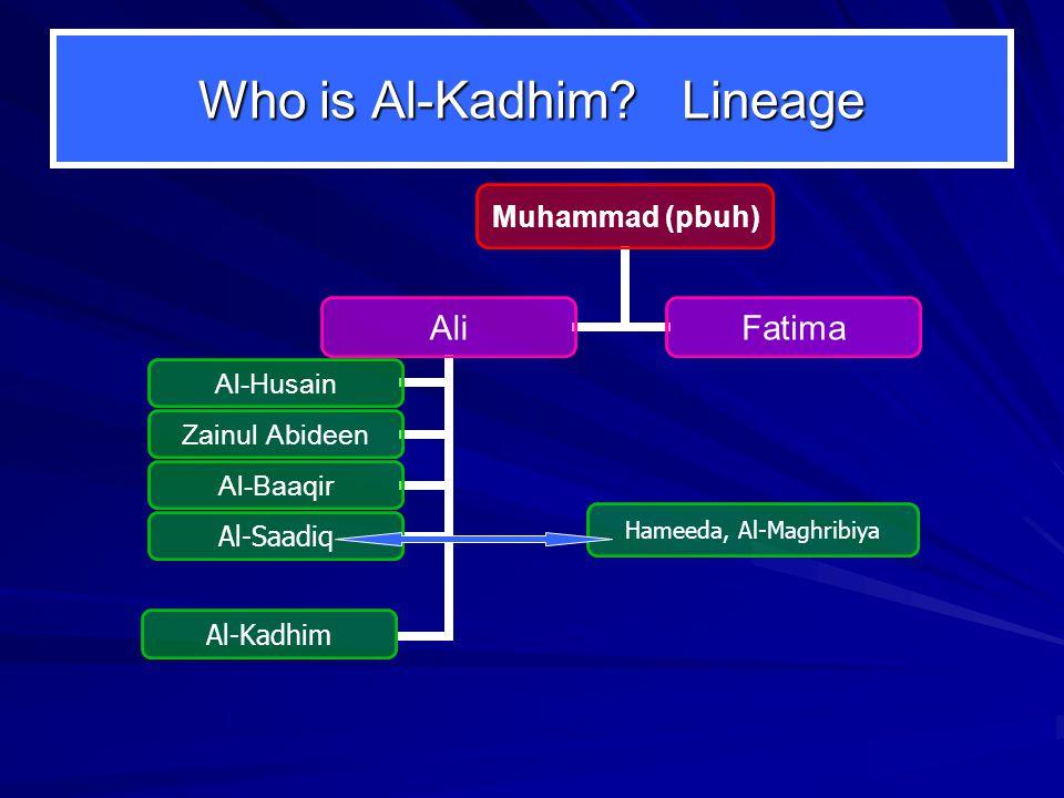 Who is Al-Kadhim? Lineage Hameeda, Al-Maghribiya