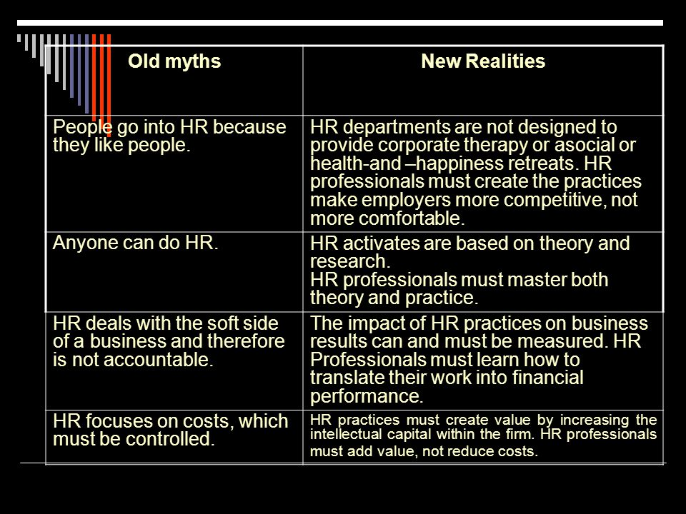 HR's job is to be the policy police and the health and-happiness patrol.