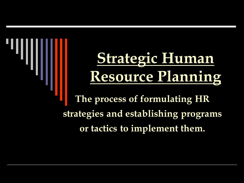 The Benefits of HR Planning