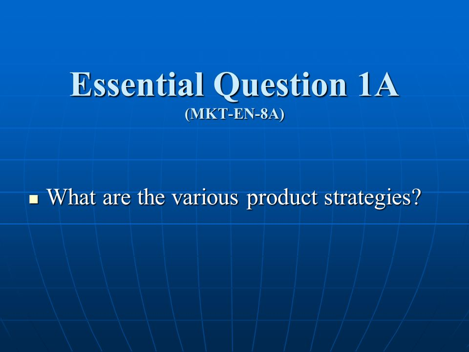 The Product Strategy Quiz 1.What is the difference between a feature and a benefit.