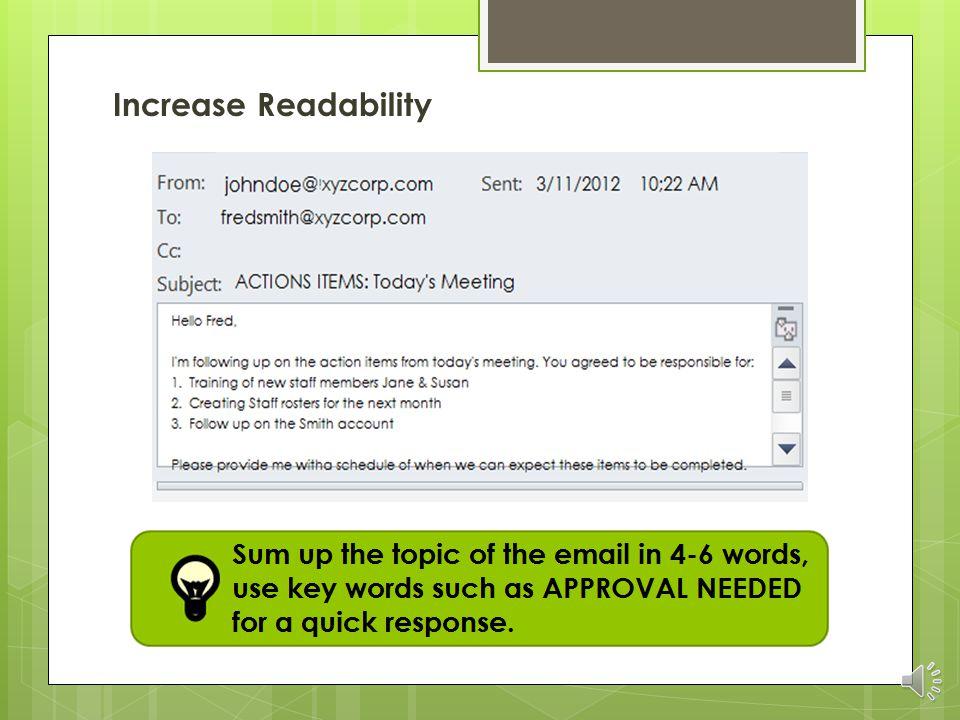Increase Readability