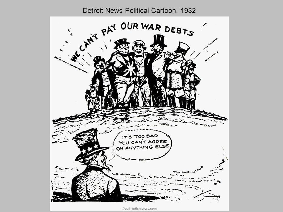 Detroit News Political Cartoon, 1932