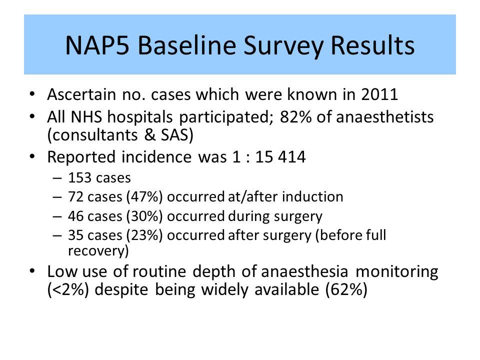 NAP5 Baseline Survey Results Ascertain no.