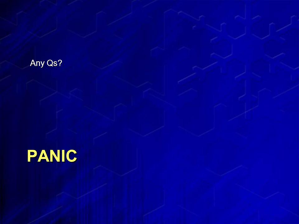 PANIC Any Qs