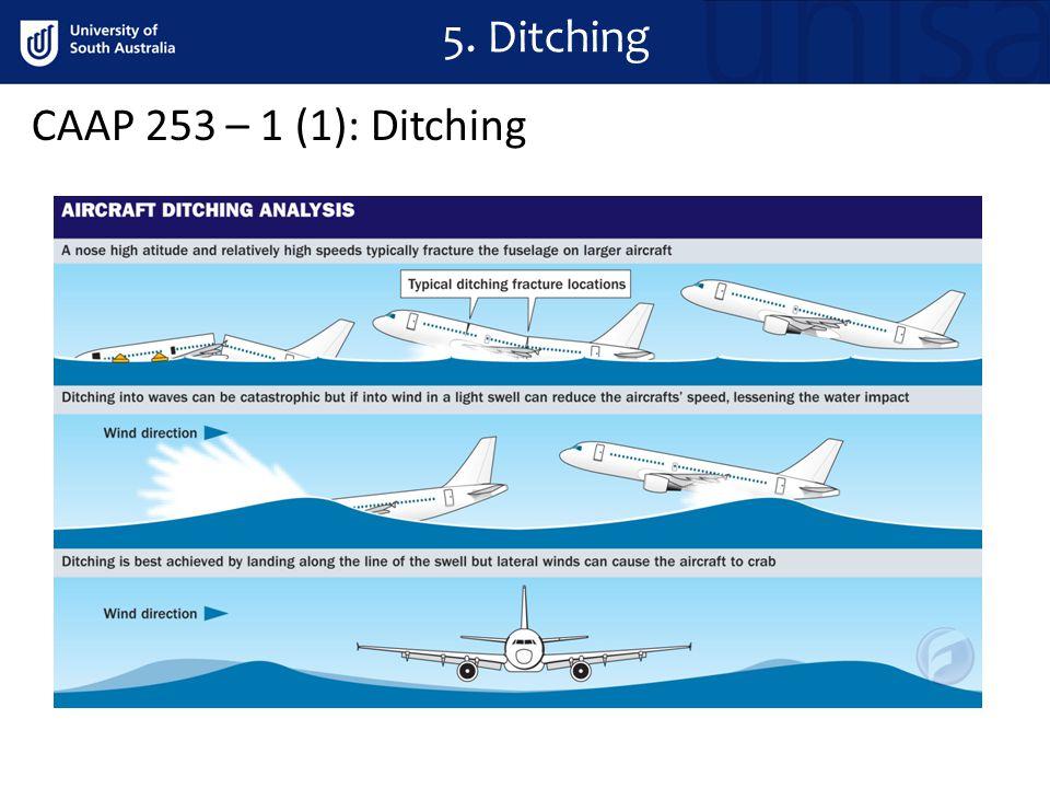 CAAP 253 – 1 (1): Ditching 5. Ditching