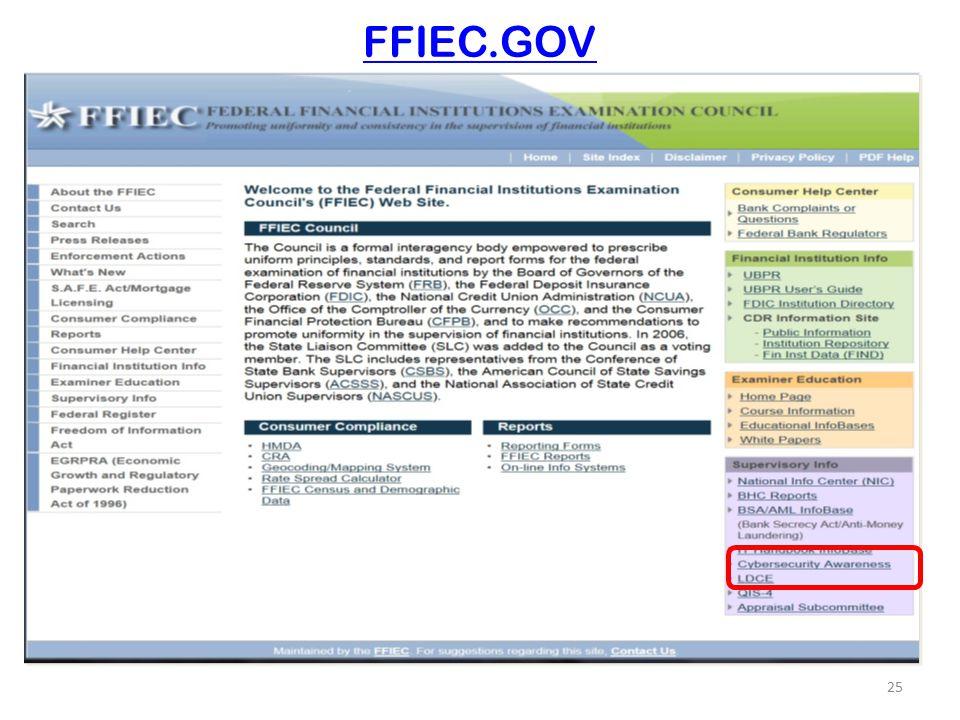 FFIEC.GOV 25