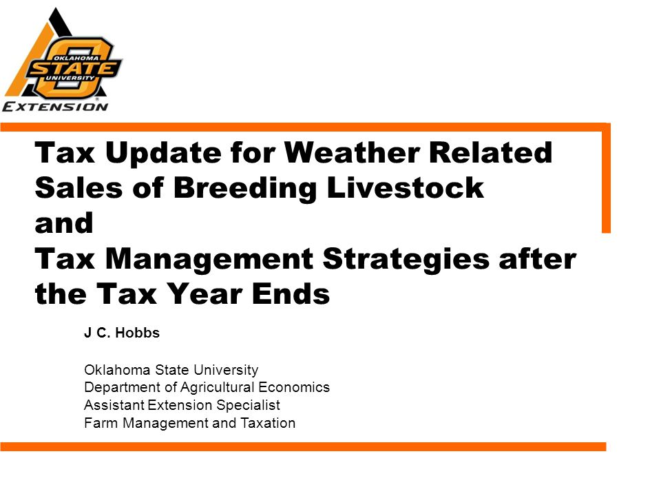 Weather-Related Sales of Livestock Applies to sales of livestock due to weather- related conditions: flood, drought, or other weather-related condition causing a shortage of water and/or feed.