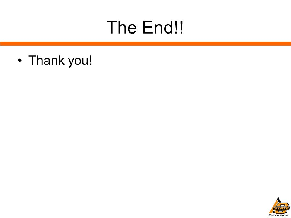 The End!! Thank you!
