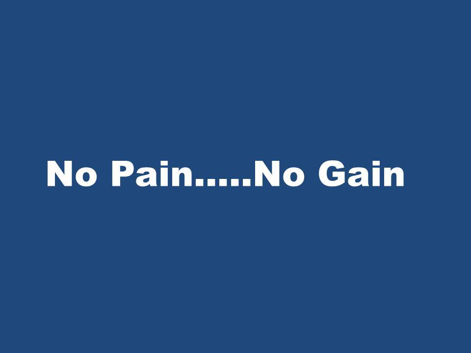 No Pain…..No Gain