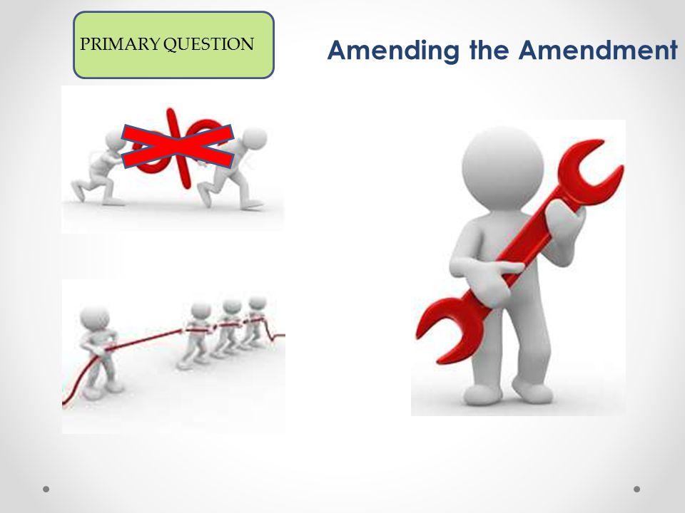 Amendments PRIMARY QUESTION