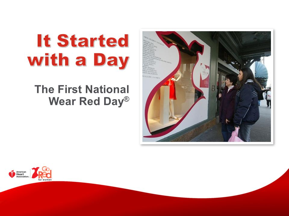 The First National Wear Red Day ®