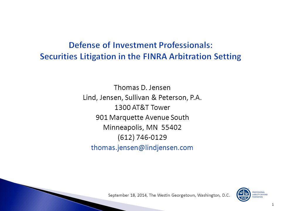 Thomas D. Jensen Lind, Jensen, Sullivan & Peterson, P.A. 1300 AT&T Tower 901 Marquette Avenue South Minneapolis, MN 55402 (612) 746-0129 thomas.jensen