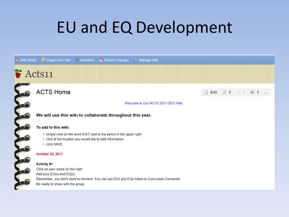 EU and EQ Development