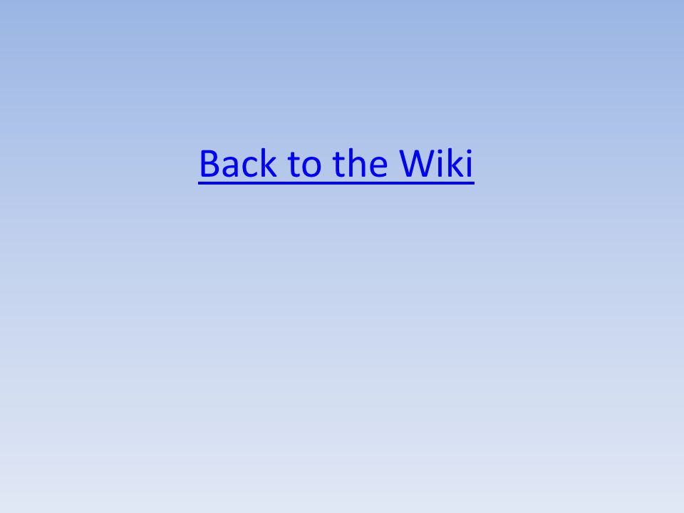 Back to the Wiki