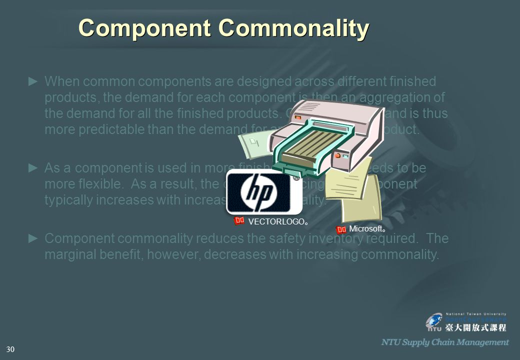 ►When common components are designed across different finished products, the demand for each component is then an aggregation of the demand for all the finished products.